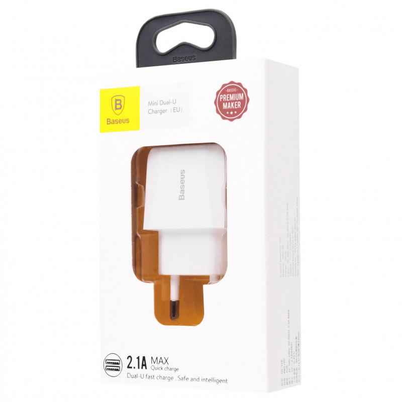 СЗУ Baseus Mini Dual U Charger 2.1A 2USB - Купить в Украине за 219 грн - изображение №2