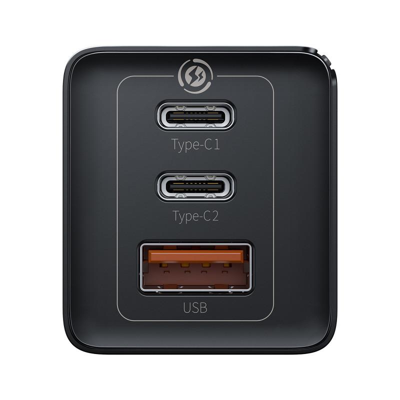 СЗУ Baseus GaN2 Quick Charger 65W (2 Type-C + 1 USB) - Купить в Украине за 1179 грн - изображение №8