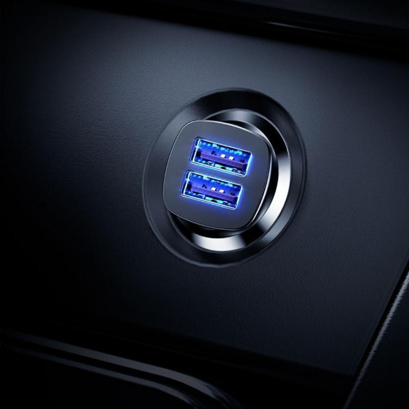 Автомобильное ЗУ Baseus Square Metal QC 3.0 30W 2USB - Купить в Украине за 299 грн - изображение №3