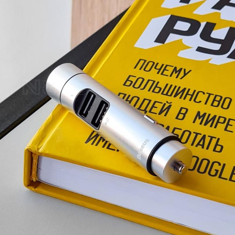 Автомобильное ЗУ Baseus Energy Column Bluetooth FM Launcher 3,1A 2USB - Купить в Украине за 539 грн - изображение №3