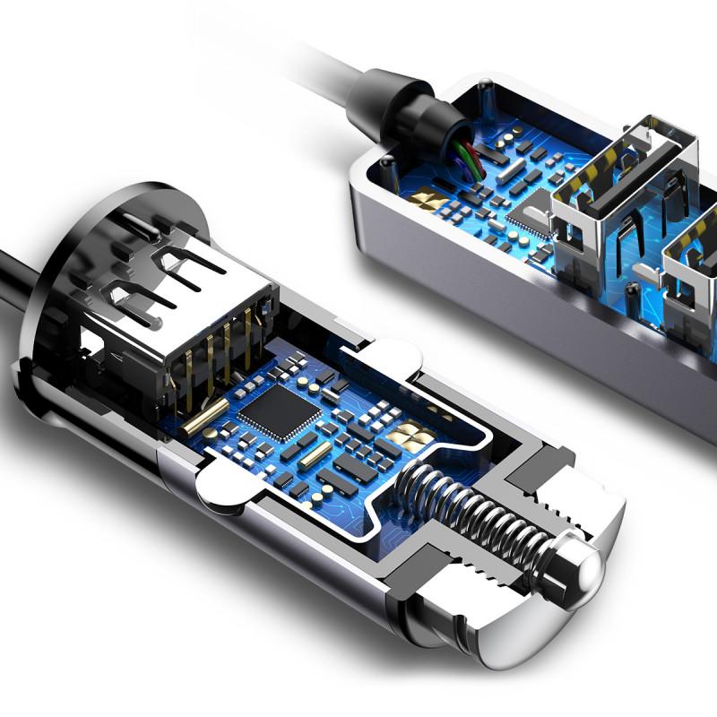 Автомобильное ЗУ Baseus Enjoy Together Four Interfaces 5.5A 4USB - Купить в Украине за 429 грн - изображение №4
