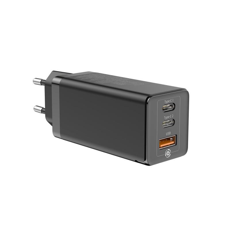 СЗУ Baseus GaN Quick Travel Charger 65W (2 Type-C + 1 USB) - Купить в Украине за 1179 грн - изображение №9