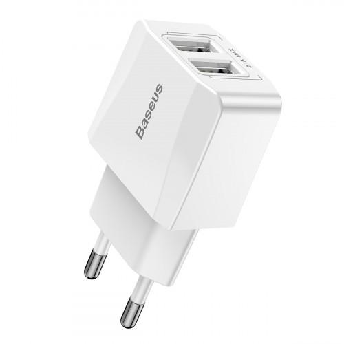 Купить СЗУ Baseus Mini Dual U Charger 2.1A 2USB — Baseus.com.ua