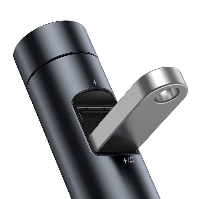 Автомобильное ЗУ Baseus Energy Column Bluetooth FM Launcher 3,1A 2USB - Купить в Украине за 539 грн - изображение №7