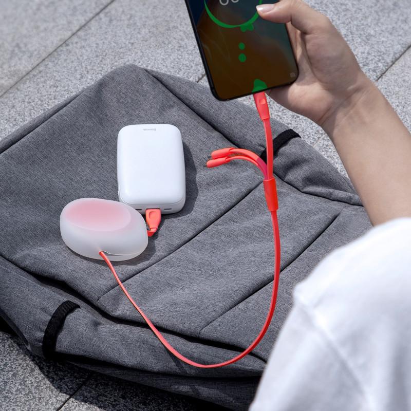 Кабель Baseus Lets Go Little Reunion Adjustable 3-in-1 (Micro USB+Lightning+Type-C) 3A (0.85m) - Купить в Украине за 349 грн - изображение №3