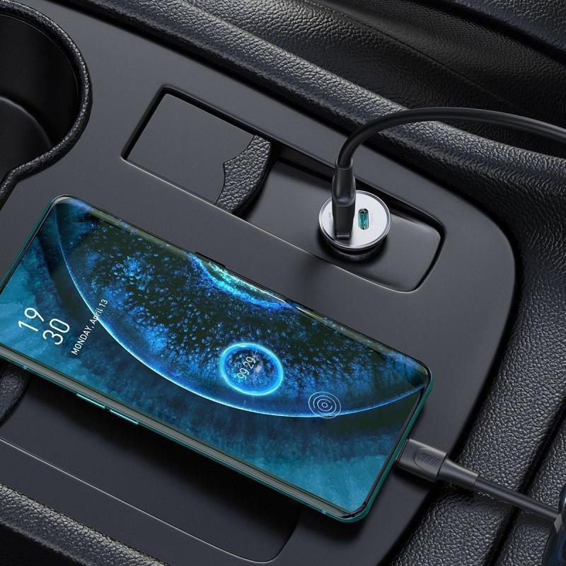 Автомобильное ЗУ Baseus Circular Metal PPS 30W (Support VOOC) USB - Купить в Украине за 459 грн - изображение №3