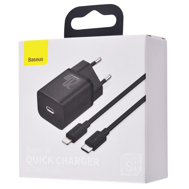 СЗУ Baseus Super Silicone PD Charger 20W (1Type-C) + With Cable Type-C to Lightning - Купить в Украине за 489 грн - изображение №2