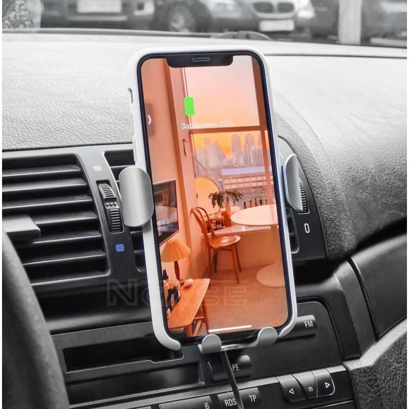 Автодержатель с Беспроводной Зарядкой Baseus Gravity Car Mount (Air Outlet Version) 1.67A 10W - Купить в Украине за 579 грн - изображение №4