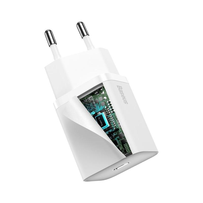 СЗУ Baseus Super Silicone PD Charger 20W (1Type-C) + With Cable Type-C to Lightning - Купить в Украине за 489 грн - изображение №9