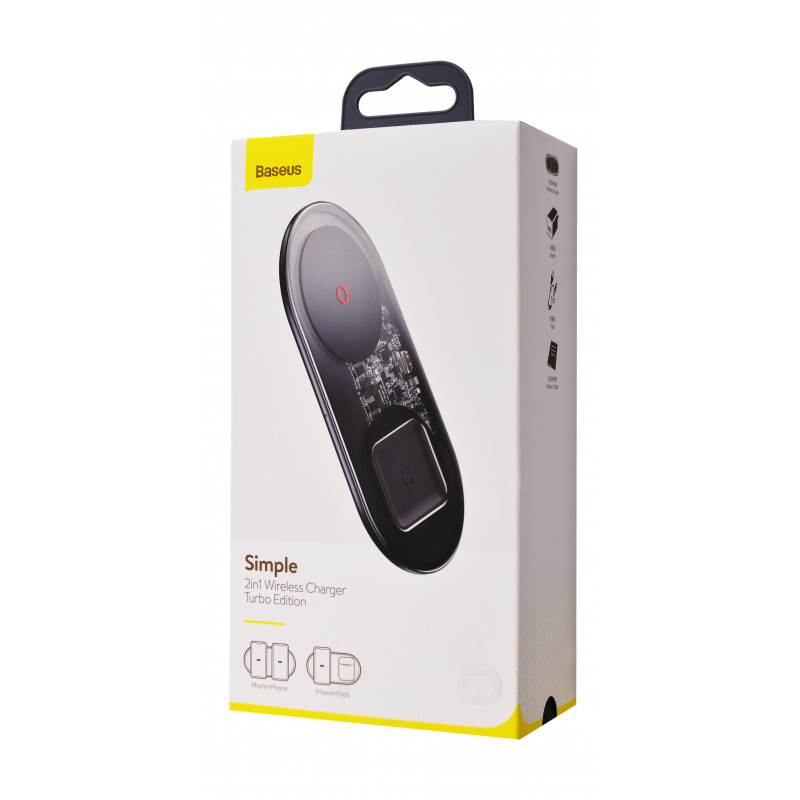 Беспроводное ЗУ Baseus Simple 2in1 Turbo Edition 24W (With QC Wall Charger) - Купить в Украине за 1079 грн - изображение №2