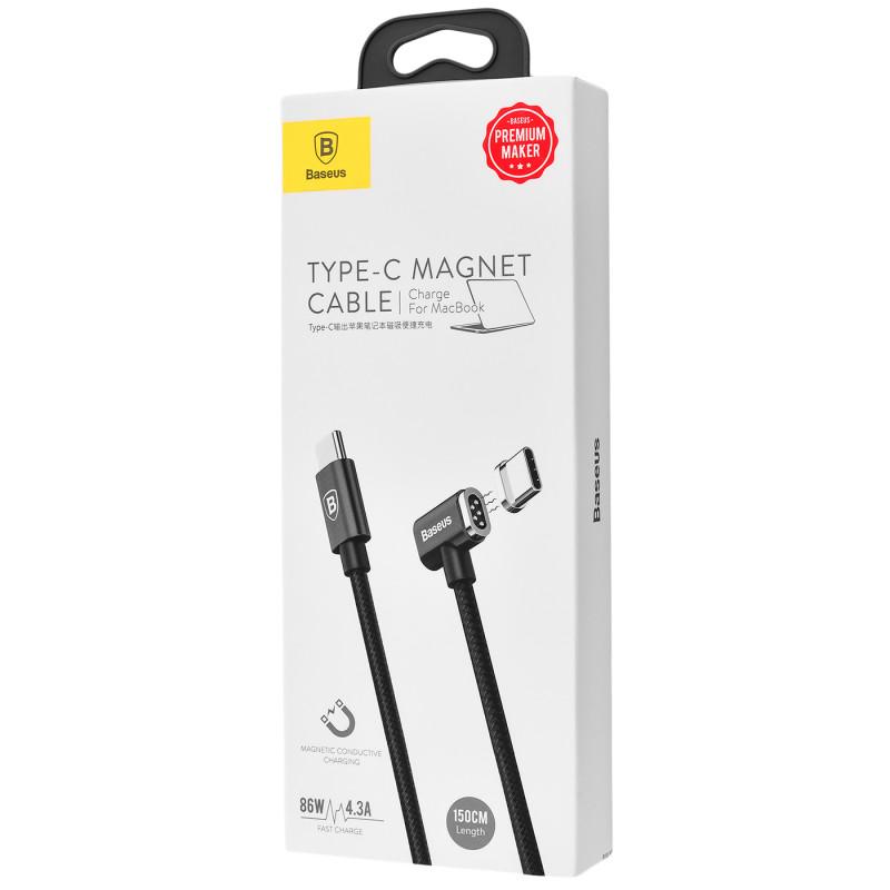 Кабель Baseus Magnet Type-C For Charge MacBook 86W 4.3A (1.5m) - Купить в Украине за 659 грн - изображение №2