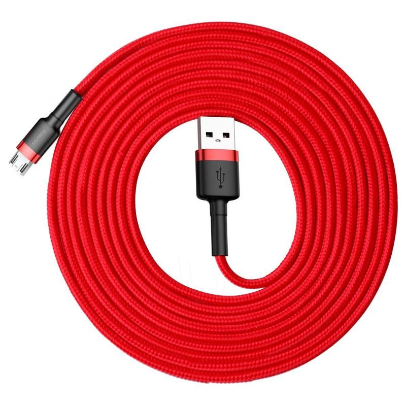 Кабель Baseus Cafule Micro USB 2.0A (3m) - Купить в Украине за 209 грн - изображение №4