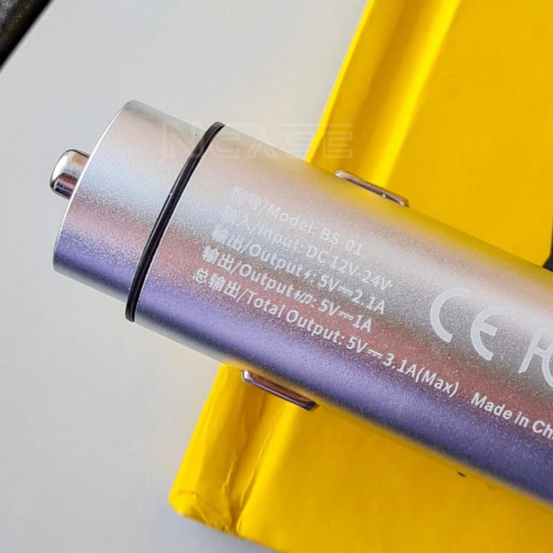 Автомобильное ЗУ Baseus Energy Column Bluetooth FM Launcher 3,1A 2USB - Купить в Украине за 539 грн - изображение №5