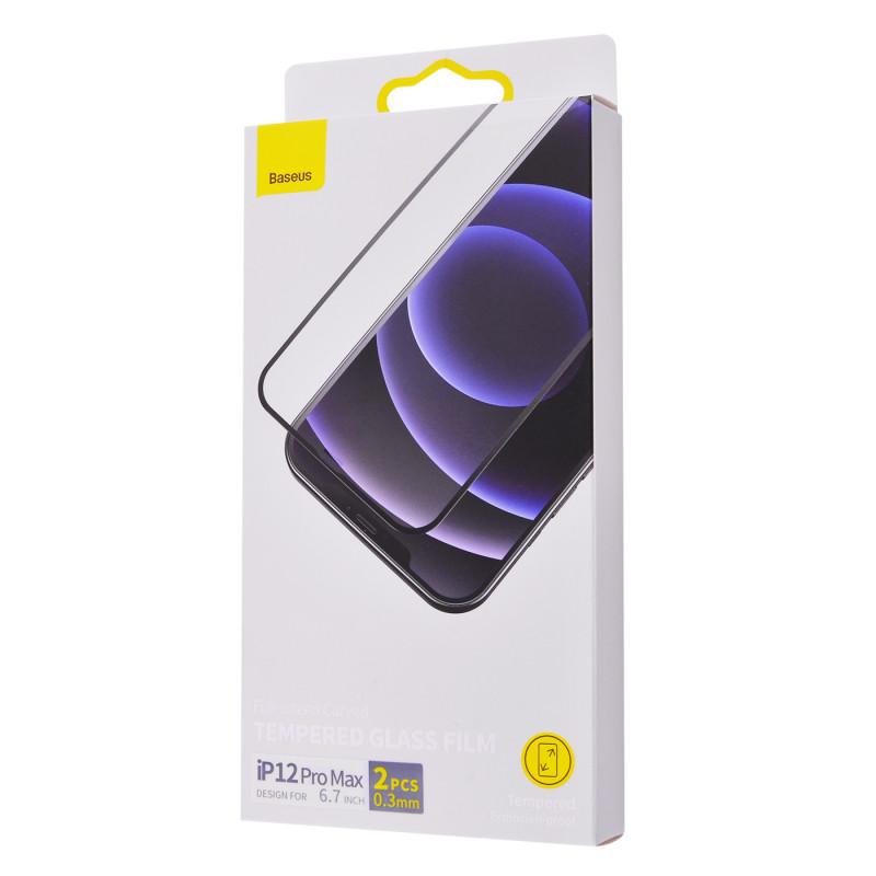 Защитное стекло Baseus 0.3mm full-screen curved tempered glass iPhone 12 Pro Max (2pcs/pack) - Купить в Украине за 0 грн - изображение №2