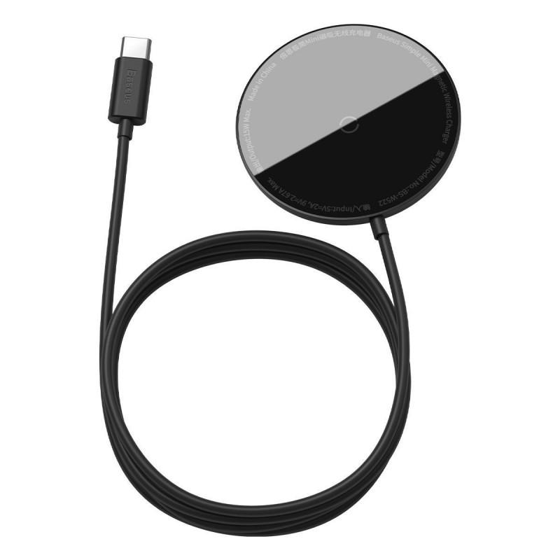 Беспроводное ЗУ Baseus Simple Mini Magnetic 15W - Купить в Украине за 879 грн - изображение №10