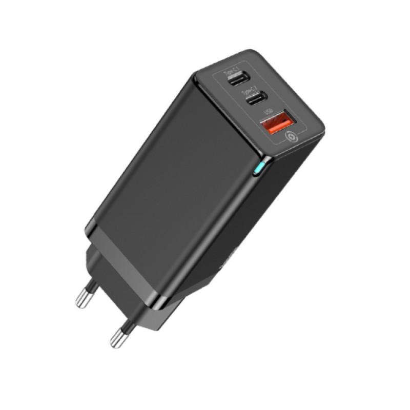СЗУ Baseus GaN2 Quick Charger 65W (2 Type-C + 1 USB) - Купить в Украине за 1179 грн