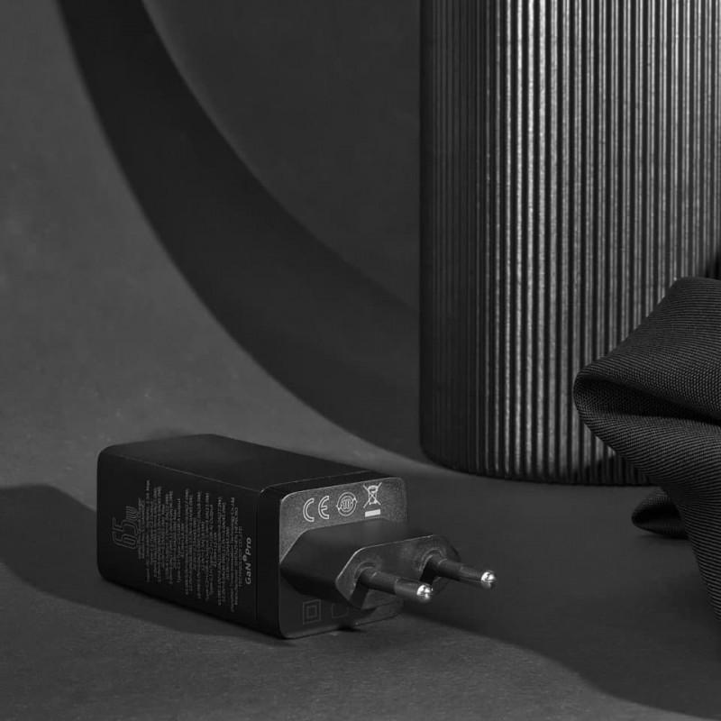 СЗУ Baseus GaN Quick Travel Charger 65W (2 Type-C + 1 USB) - Купить в Украине за 1179 грн - изображение №6