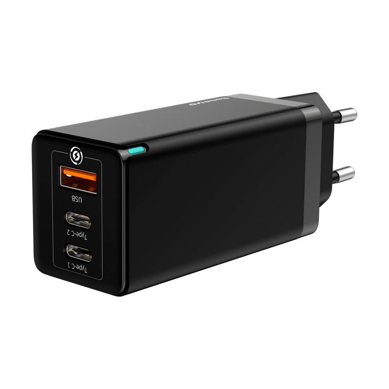 СЗУ Baseus GaN Quick Travel Charger 65W (2 Type-C + 1 USB) - Купить в Украине за 1179 грн - изображение №8