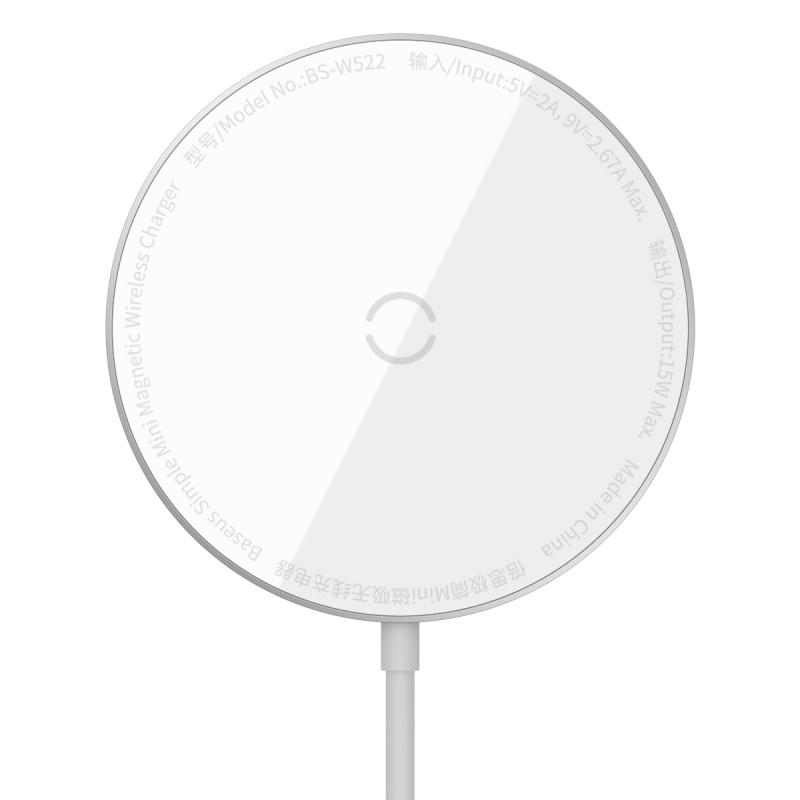 Беспроводное ЗУ Baseus Simple Mini Magnetic 15W - Купить в Украине за 879 грн - изображение №11