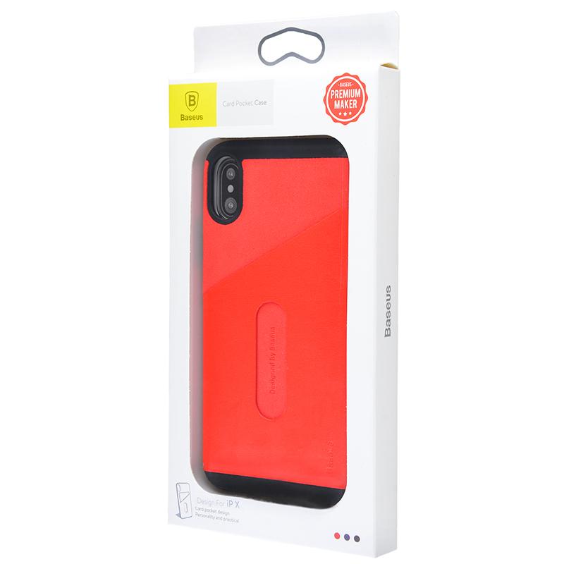 Baseus Card Pocket Case iPhone X - Купить в Украине за 231 грн - изображение №2
