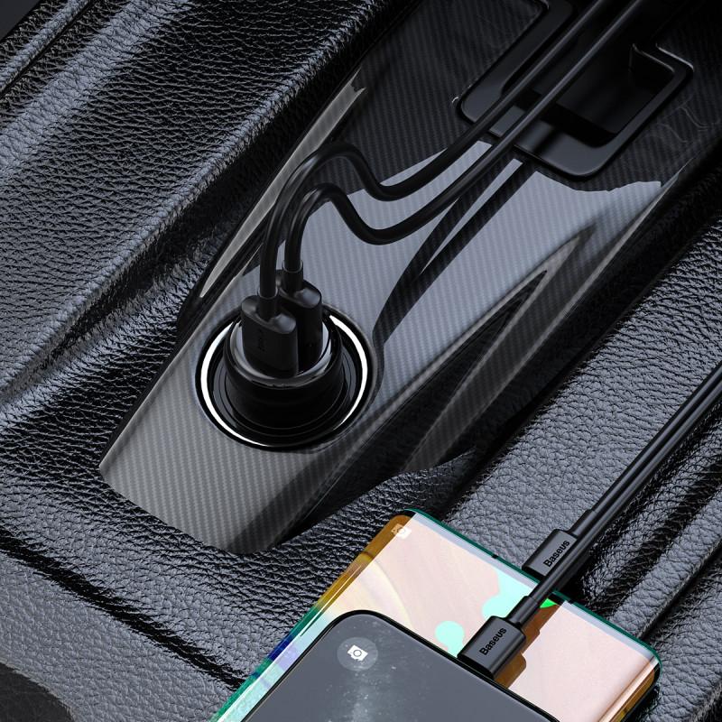 Автомобильное ЗУ Baseus S-16 Bluetooth FM Launcher 2USB - Купить в Украине за 529 грн - изображение №3