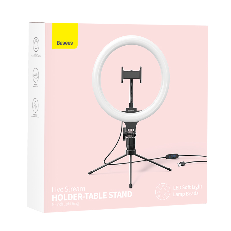 Кольцевая светодиодная LED лампа Baseus Live Stream 10
