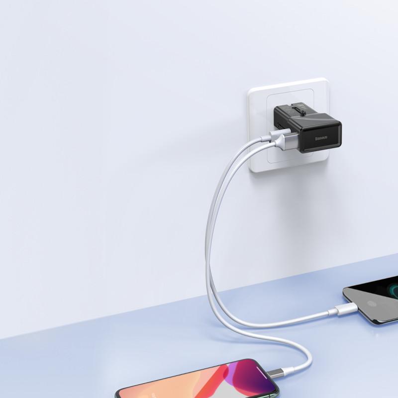 СЗУ Baseus Universal Conversion Plug PPS Charger 18W (1 Type-C + 1 USB) - Купить в Украине за 589 грн - изображение №5