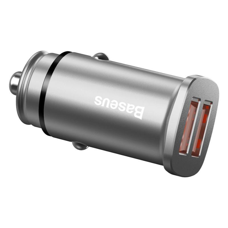 Автомобильное ЗУ Baseus Square Metal QC 3.0 30W 2USB - Купить в Украине за 299 грн - изображение №5