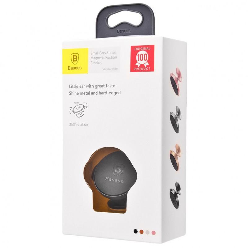 Автодержатель Baseus Small Ears Series Magnetic Suction Bracket Vertical Type - Купить в Украине за 269 грн - изображение №2