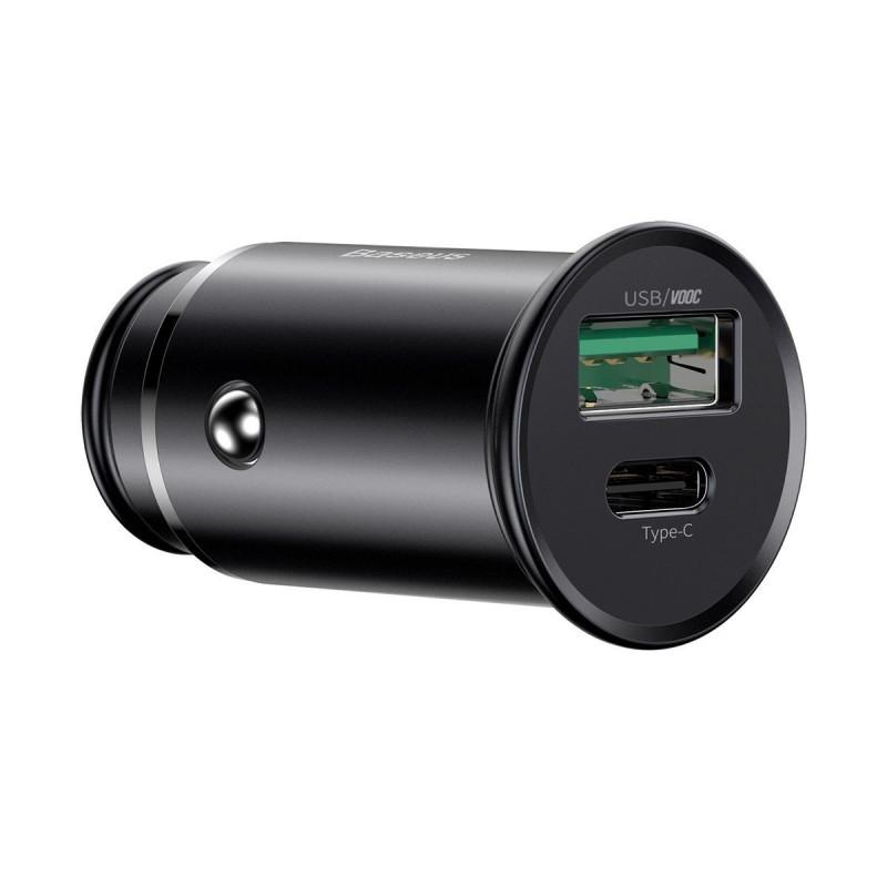 Автомобильное ЗУ Baseus Circular Metal PPS 30W (Support VOOC) USB - Купить в Украине за 459 грн - изображение №7