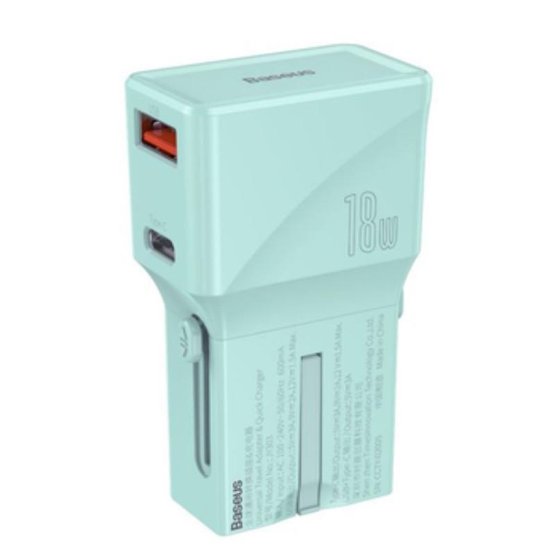 СЗУ Baseus Universal Conversion Plug PPS Charger 18W (1 Type-C + 1 USB) - Купить в Украине за 589 грн