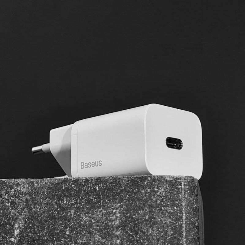 СЗУ Baseus Super Silicone PD Charger 20W (1Type-C) + With Cable Type-C to Lightning - Купить в Украине за 489 грн - изображение №5