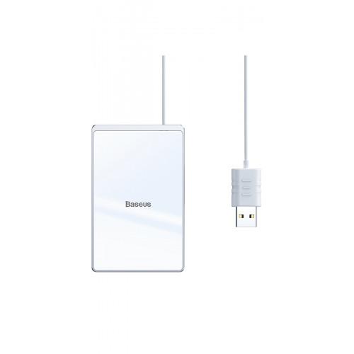 Купить Беспроводное ЗУ Baseus Card Ultra-Thin 15W (with USB cable 1m) — Baseus.com.ua