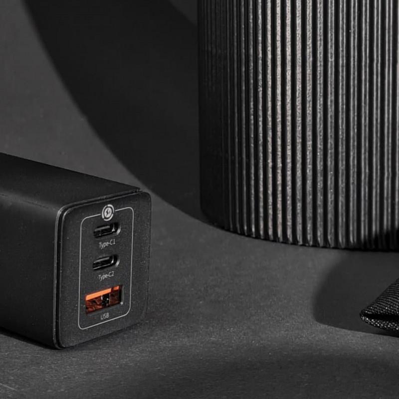 СЗУ Baseus GaN Quick Travel Charger 65W (2 Type-C + 1 USB) - Купить в Украине за 1179 грн - изображение №5