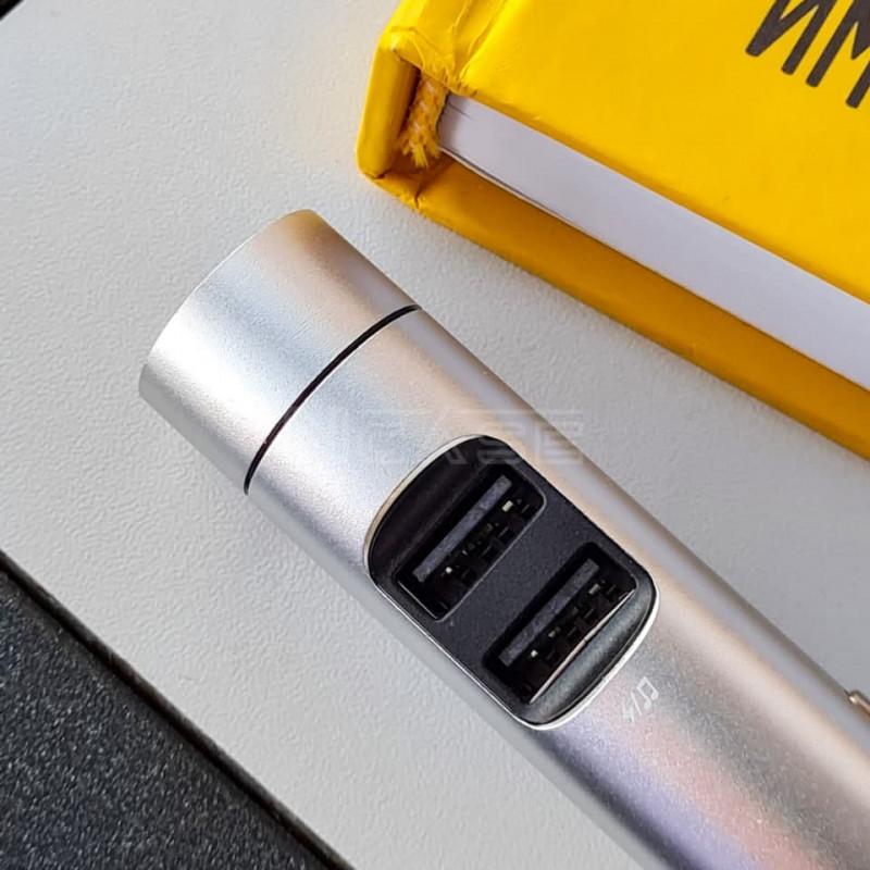 Автомобильное ЗУ Baseus Energy Column Bluetooth FM Launcher 3,1A 2USB - Купить в Украине за 539 грн - изображение №4