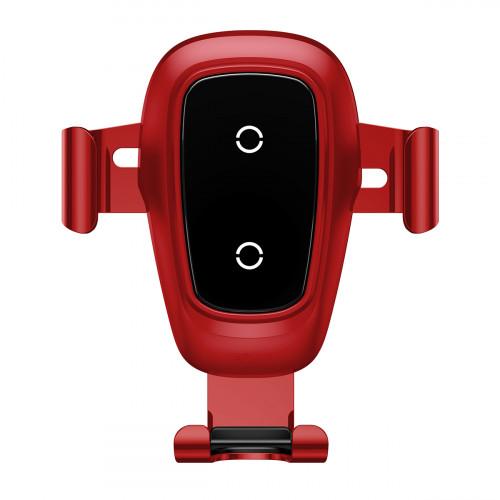 Купить Автодержатель с Беспроводной Зарядкой Baseus Metal Gravity Car Mount (Air Outlet Version) 1.7A Qc3.0 — Baseus.com.ua