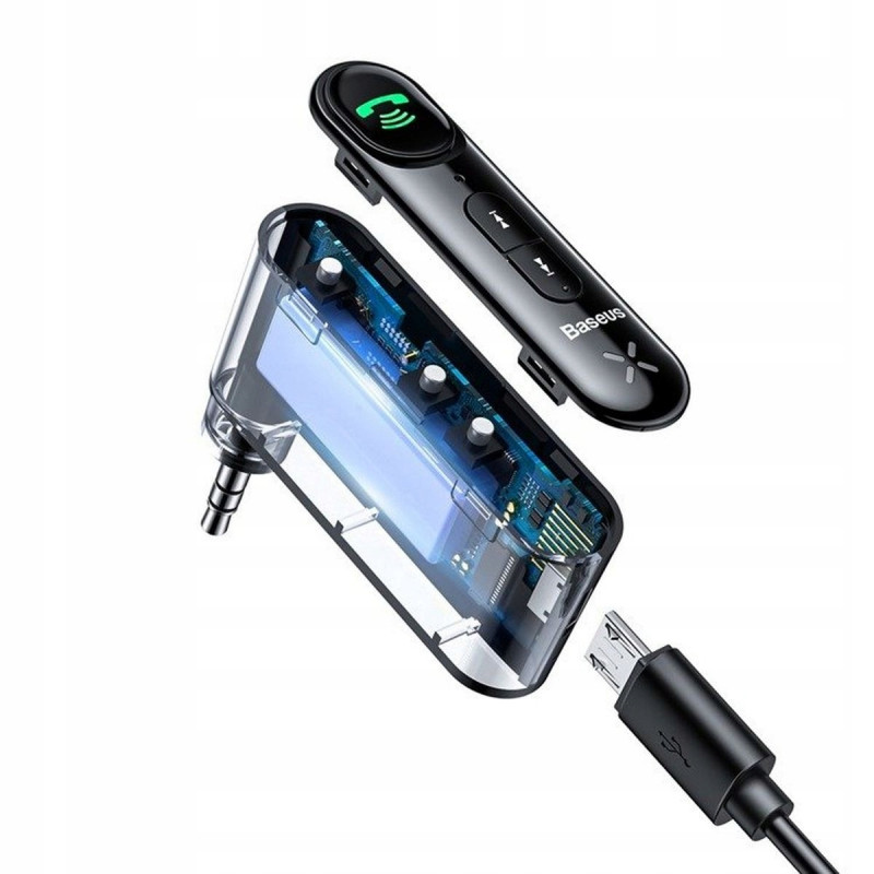 Адаптер AUX Baseus Qiyin Car Bluetooth Receiver - Купить в Украине за 379 грн - изображение №5