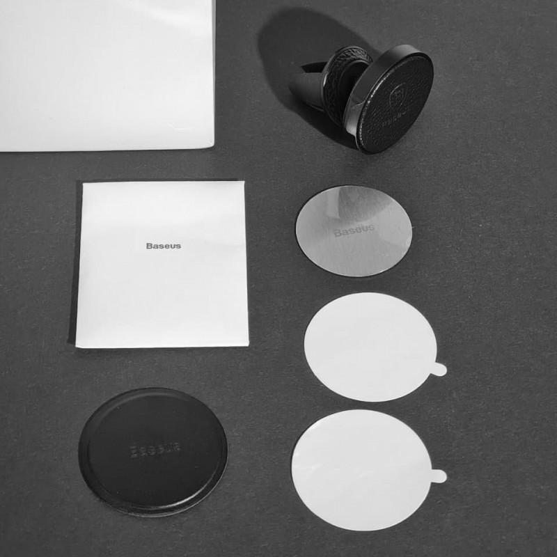 Автодержатель Baseus Small Ears Series Magnetic Bracket Leather Air Outlet Type - Купить в Украине за 319 грн - изображение №4