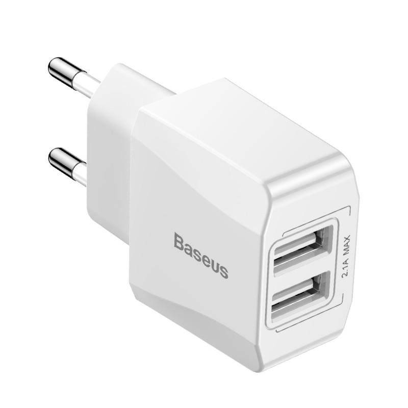 СЗУ Baseus Mini Dual U Charger 2.1A 2USB - Купить в Украине за 219 грн - изображение №8