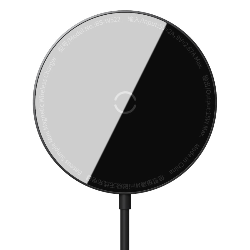 Беспроводное ЗУ Baseus Simple Mini Magnetic 15W - Купить в Украине за 879 грн - изображение №12