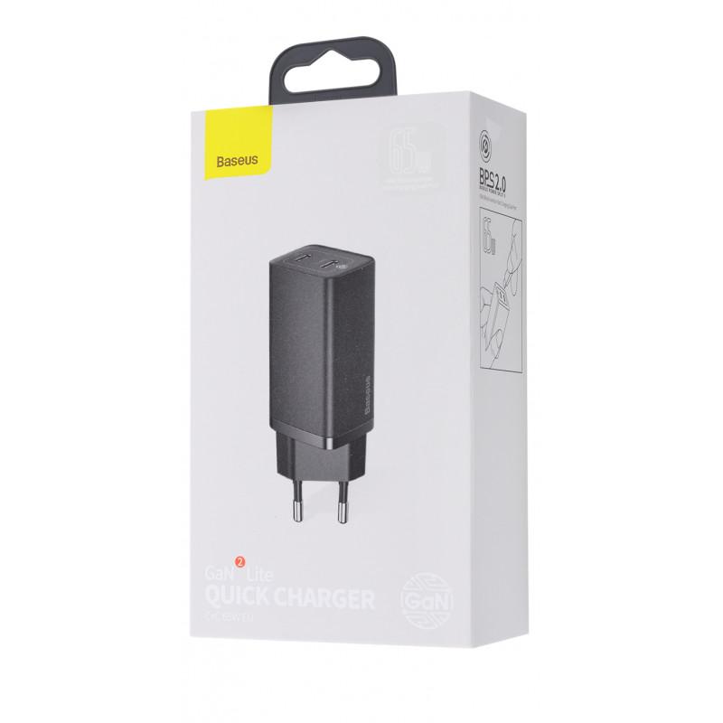 СЗУ Baseus GaN2 Lite Quick Charger 65W (2 Type-C) - Купить в Украине за 969 грн - изображение №2