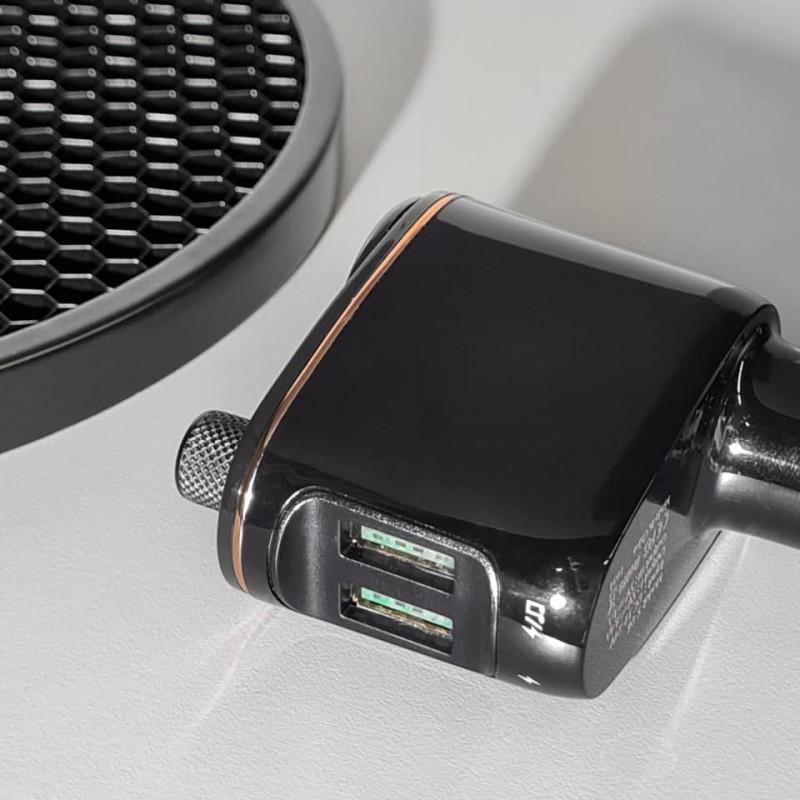 Автомобильное ЗУ Baseus Locomotive Bluetooth FM Launcher 3.4A 2USB - Купить в Украине за 539 грн - изображение №4