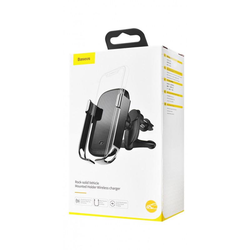 Автодержатель с Беспроводной Зарядкой Baseus Rock-Solid Electric Holder - Купить в Украине за 979 грн - изображение №2