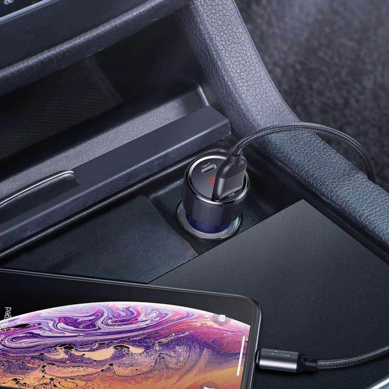 Автомобильное ЗУ Baseus Magic Series Digital Display PD 3.0 QC 4.0+ 45W USB + Type-C - Купить в Украине за 419 грн - изображение №3