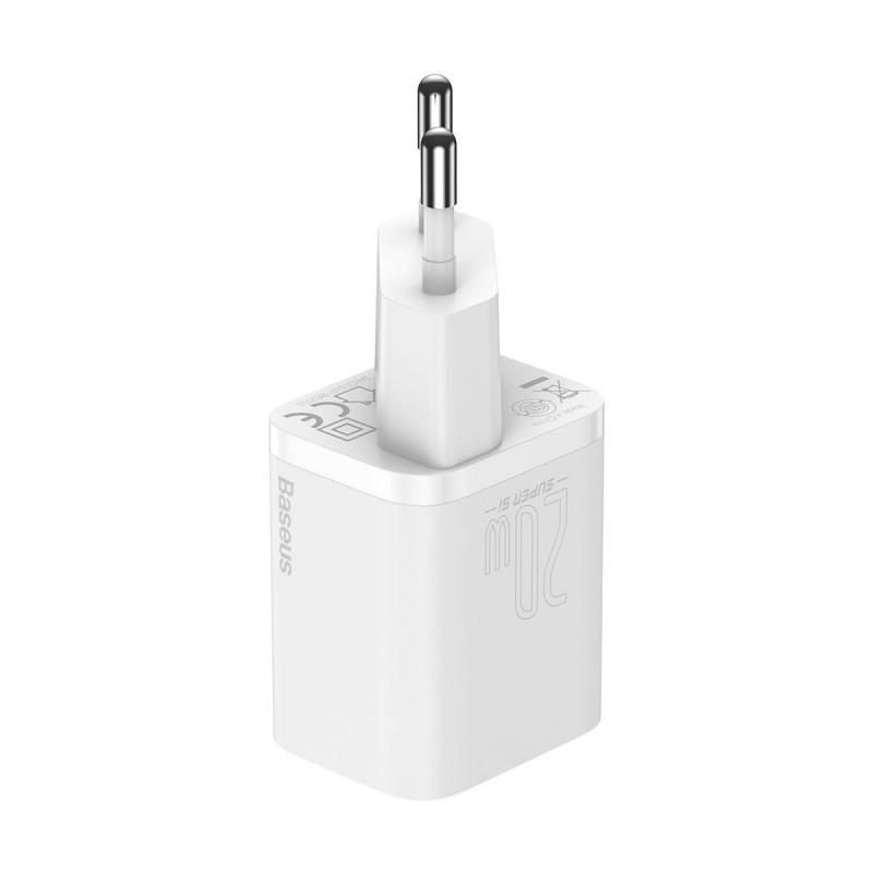 СЗУ Baseus Super Silicone PD Charger 20W (1Type-C) + With Cable Type-C to Lightning - Купить в Украине за 489 грн - изображение №11