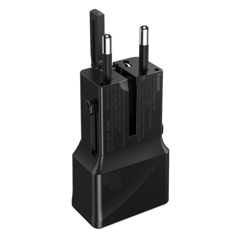 СЗУ Baseus Universal Conversion Plug PPS Charger 18W (1 Type-C + 1 USB) - Купить в Украине за 589 грн - изображение №8