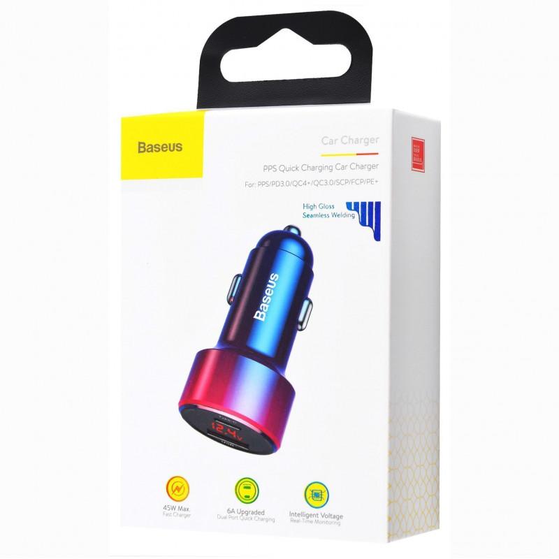 Автомобильное ЗУ Baseus Magic Series Digital Display PD 3.0 QC 4.0+ 45W USB + Type-C - Купить в Украине за 419 грн - изображение №2