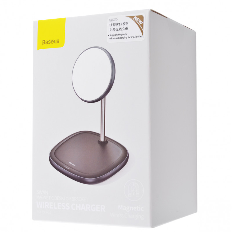Беспроводное ЗУ Baseus Swan Magnetic 15W - Купить в Украине за 1149 грн - изображение №2