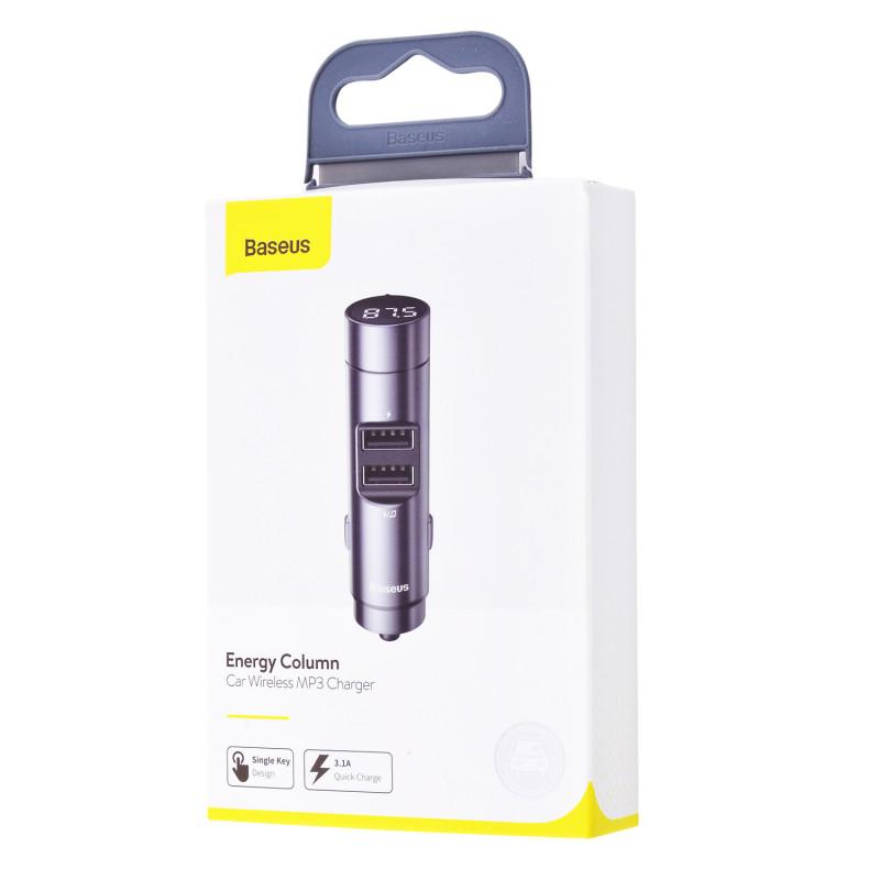 Автомобильное ЗУ Baseus Energy Column Bluetooth FM Launcher 3,1A 2USB - Купить в Украине за 539 грн - изображение №2