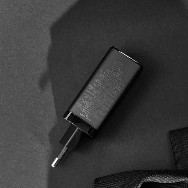 СЗУ Baseus GaN Quick Travel Charger 65W (2 Type-C + 1 USB) - Купить в Украине за 1179 грн - изображение №4